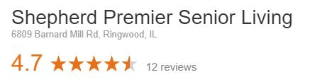 review rating for shepherd senior living