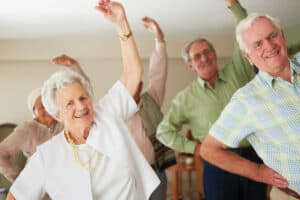 Group exercise keeps the elderly motivated